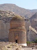 stock photo of burial-vault  - kumbet mausoleum of zeynelbey situated near town mardin turkey