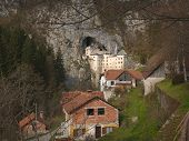 Predjama Castle And Houses