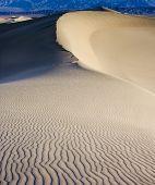 Sand Dunas During Sunrise