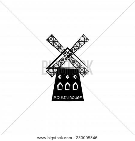 Moulin Rouge Vector Black On