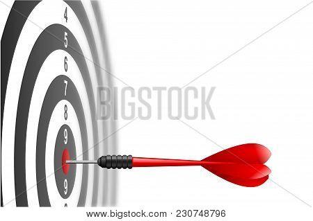 Vector Red Dart Arrow Hitting