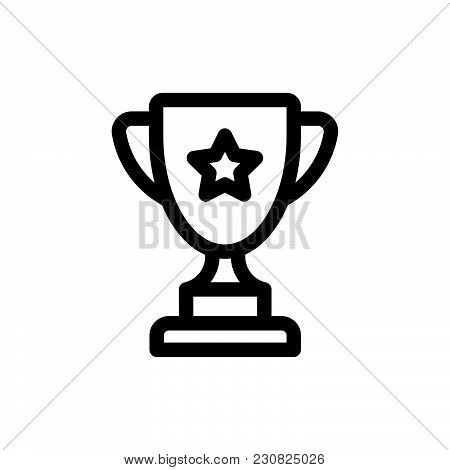 Trophy Icon Isolated On White Background Modern Symbol For Graphic And Web Design