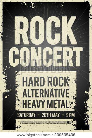 Vector illustration rock concert retro poster design template on old vector illustration rock concert retro poster design template on old paper texture poster maxwellsz