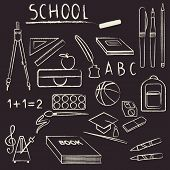 School Supplies Design Element Set