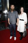 LOS ANGELES, CA - AUGUST 30: Ryan Hurst; wife Molly at the FX's 'Sons Of Anarchy' season 4 premiere