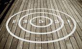 Circular Shuffle Board Target