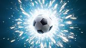 Soccer. Powerful Soccer Energy. Background Soccer Ball poster