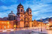 Plaza De Armas Of The City Of Cusco, Peru. poster