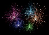 Vector colorful firework