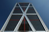 Puerta De Europa Tower (Gate Of Europe) In Madrid poster