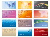 Set of modern visit cards