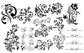 Collection of different tattoo design elements