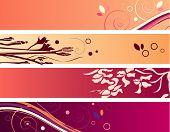 Conjunto de coloridos carteles. Versión de la trama. Versión de vector está en mi Galería.