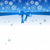 Beautiful Christmas blue background