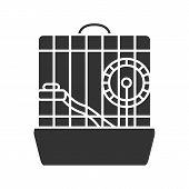 Hamster Cage Glyph Icon. Rodent Wheel. Silhouette Symbol. Negative Space. Vector Isolated Illustrati poster