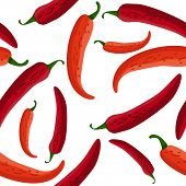 Seamless red peppers. Raster version. Vector version is in my gallery.