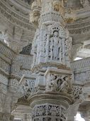 Intricate Carvings In Jain Temple