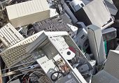 stock photo of discard  - Discarded obsolete electronic equipment  - JPG