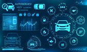 Hardware Diagnostics Condition Of Car, Scanning, Test, Monitoring, Analysis Verification - Illustrat poster
