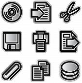Web icons silver contour files