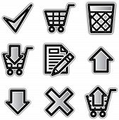Web icons silver contour shop