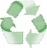 Green Recycle Symbol Halftone