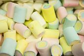 Multi-Colored Marshmallow Pile