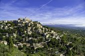 Landscape With Hilltop Village Gordes In The French Provence poster