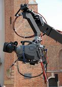 stock photo of high-def  - A fancy video camera high - JPG