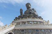 Tian Tan Buddha, Aka The Big Buddha, Is A Large Bronze Statue Of Sakyamuni Buddha And Located At Ngo poster