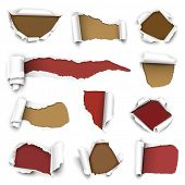 picture of turn-up  - ?ollection of torn paper. Vector illustration - JPG