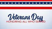 Veterans Day Celebration Illustration. Hd Background Banner. Honoring All Who Served. poster