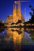 image of gaudi barcelona  - Amazing Image of the Cathedral of La Sagrada Famila in Barcelona - JPG