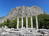Remains of the temple in Priene.
