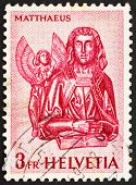 Postage stamp Switzerland 1961 St. Mathew and Angel, St. Oswald