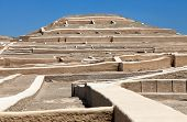 Nazca Pyramid At Cahuachi Archeological Site In The Nazca Desert Of Peru poster