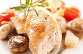 Chicken fillet roasted with vegetables