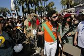 CANNES - MAY 16: Sacha Baron Cohen dressed as the character Admiral General Aladeen from 'The Dictat