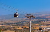 Cableway Car In Ancient City Of Pergamon Turkey
