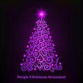 Vector Of A Glowing Purple Christmas Tree Ornament. Illustration Of Christmas That Looks Elegant. .  poster