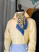 Colorful Scarf On A Mannequin
