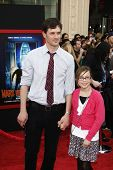 LOS ANGELES - MARCH 6: Tom Everett Scott and daughter Arly at the World Premiere of 'Mars Needs Moms