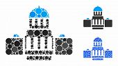 Government Buildings Composition Of Round Dots In Variable Sizes And Color Tints, Based On Governmen poster