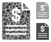 Price List Mosaic Of Unequal Parts In Variable Sizes And Color Tinges, Based On Price List Icon. Vec poster