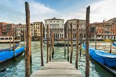 Beautiful scenery of the grand Canal in Venice, Italy poster