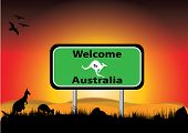 Welcome To Australia In The Sunset