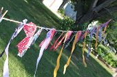foto of windchime  - Homemade banner to advertise a sale - JPG