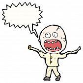 Cartoon schreienden verrückten
