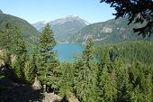 Lake Diablo, Scenic View, Northern Cascades, Scenic Loop, Washington State. poster