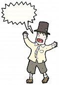 foto of hobo  - cartoon shouting hobo - JPG